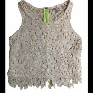 3/$30 Xhilaration floral knit crop top